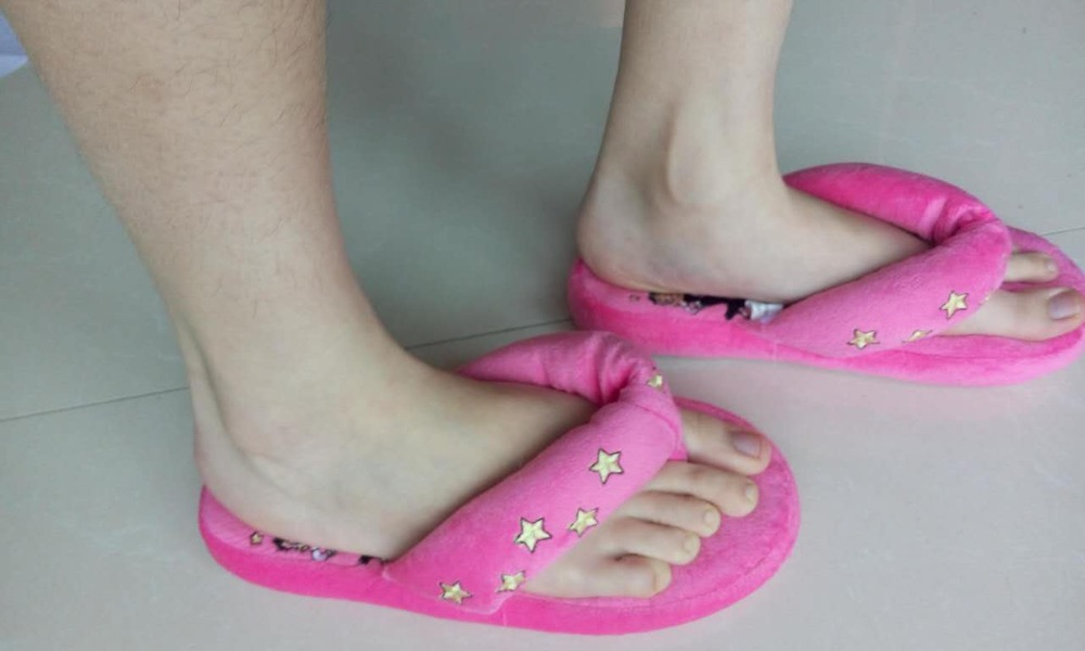 Woman Footwear Winter Indoor House Shoes SPA Thong Sandal Fleece ...