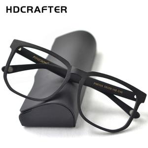 Image 2 - HDCRAFTER Women Men Vintage Retro Wood Glasses Frame Oversized Optical Eyaglasses Frames for Prescription Lens Spectacles