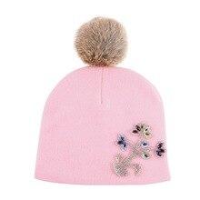 0-2 лет baby дети цветочные красивые шапочки высокое качество хлопка материал тепловой мальчик девочка моды зимняя шапка роскошные gorros