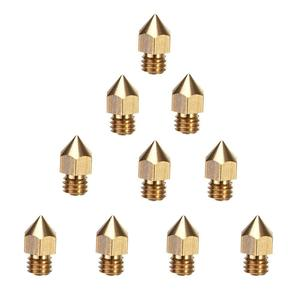 Ender 5 MK8 nozzles 5pcs 0.3 0.4 0.5 0.6 0.8 1.0 1.2mm M6 Extruder for ender-3 pro CR-10 CR-X ender-5 3D printer hotend parts(China)