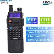 Baofeng DM-5R VHF / UHF 136-174 / 400-480MHz 3800mAh Battery Dual Band DMR Digital Radio Walkie Talkie Transceiver
