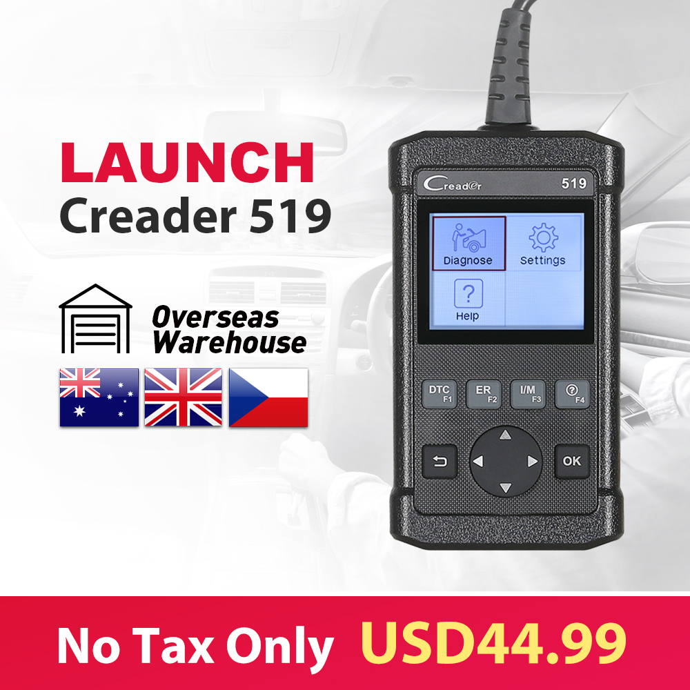 Best OBD2 Scanner LAUNCH Creader 519 Diagnostic Tool Support All OBD 2 Protocols CR519 Auto scanner same as LAUNCH Creader 5001