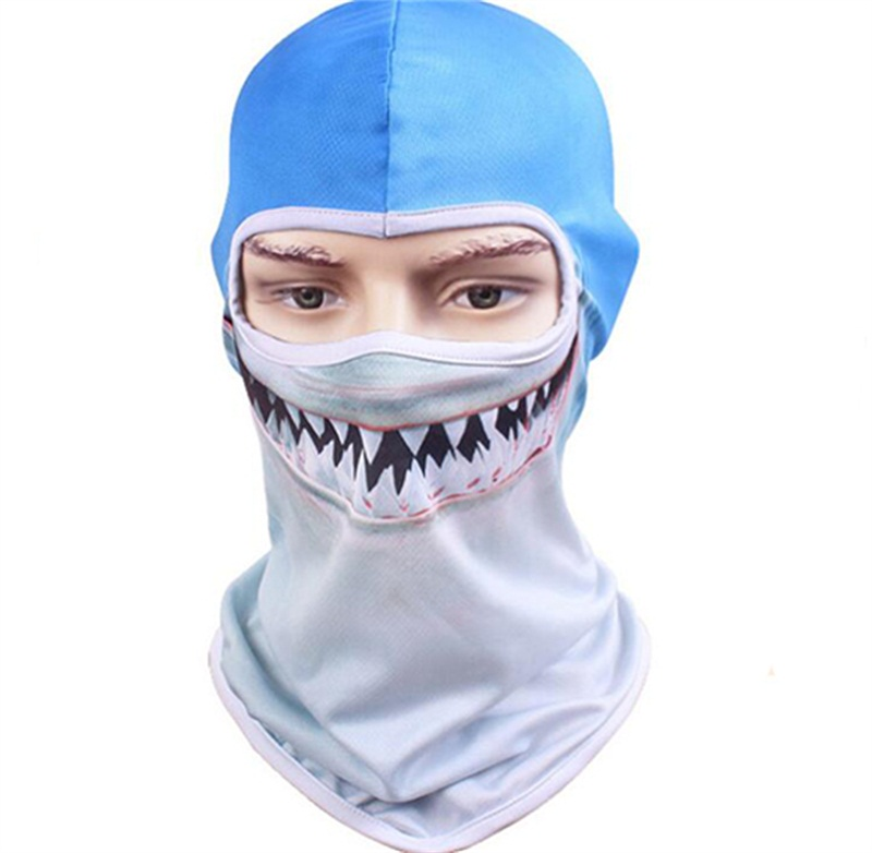 30pcs/lot NEW Animal Skull Masks Balaclavas One Hole for Men COOL Full Face Mask Beanie Women Summer Camping Hunting Balaclava tactical skull masks cs full face mask metal mesh eye shield halloween airsoft hunting field equipment