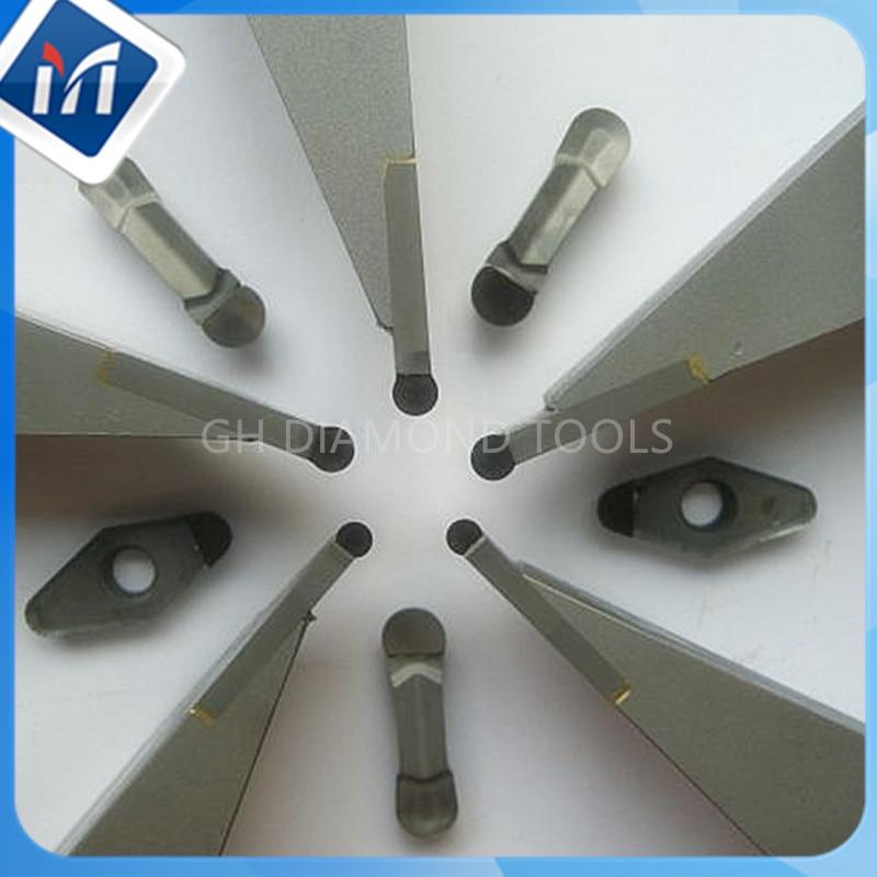 PCD концентратора колеса отделка карбида токарных инструментов 25mmX 25X L160mmX R3 R4 алмазов токарный концентратора фрезы