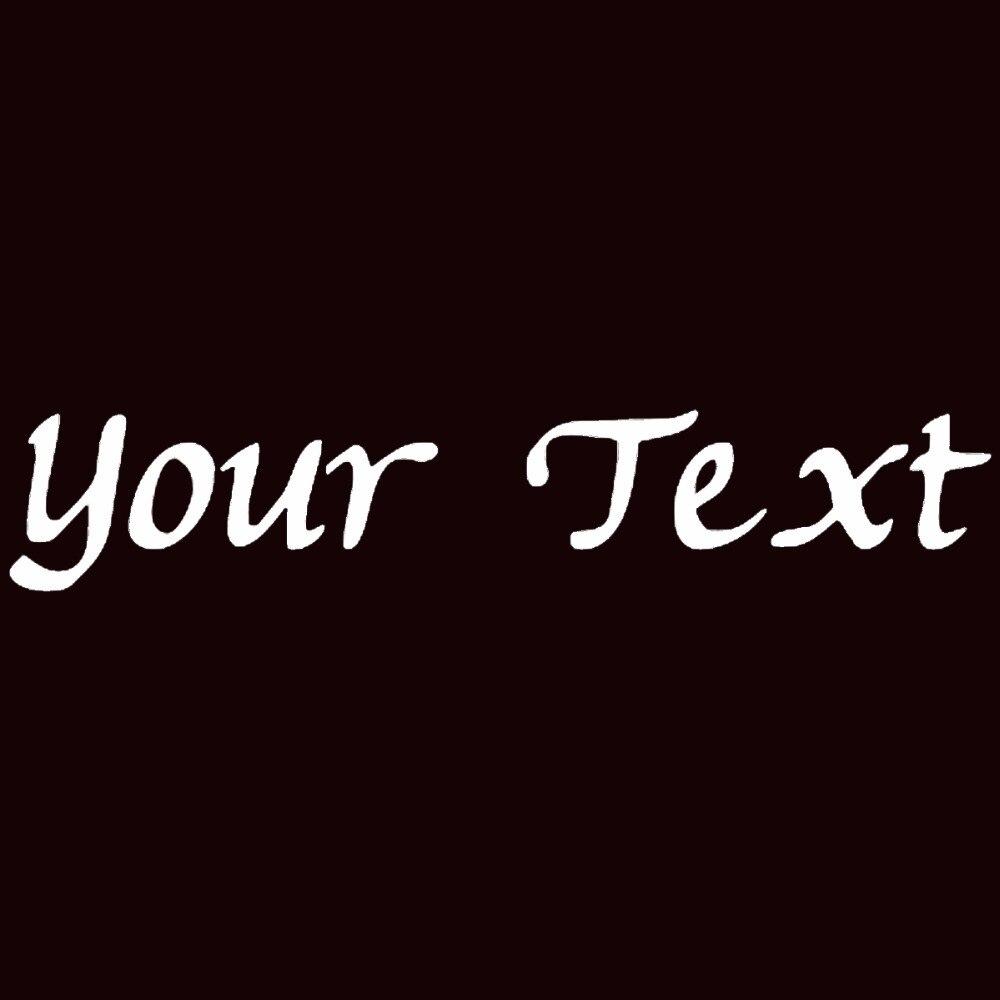 2 x personnalisé texte de votre choix Personnalisé Nom lettrage fenêtre Vinly decal