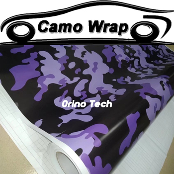 Jumbo Purple Black Vinyl Film Camouflage Car Wrap Graphic Car Sticker Vehicle Motorcycle Body Wrapping Decal Air Free Bubble