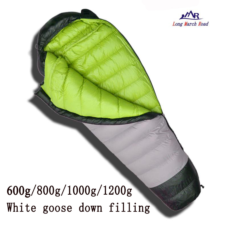 LMR ultralight comfortable goose down filling 600g/800g/1000g/1200g down can be spliced camping sleeping bag lmr 800g goose down filling outdoor camping goose down splicing mummy ultra light comfortable sleeping bag