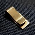 2016 de cobre Inoxidável Bolso Magro designer de homens Carteira Grampo do Dinheiro dinheiro do negócio ID do Cartão de Crédito do vintage Titular da Conta de Metal Braçadeira!
