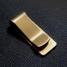 2018 Stainless copper Slim Pocket designer men Money Clip Wa