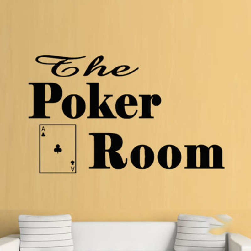Poker Cards Games Cool Boys Wall Art Stickers Decals Vinyl Home Room ...