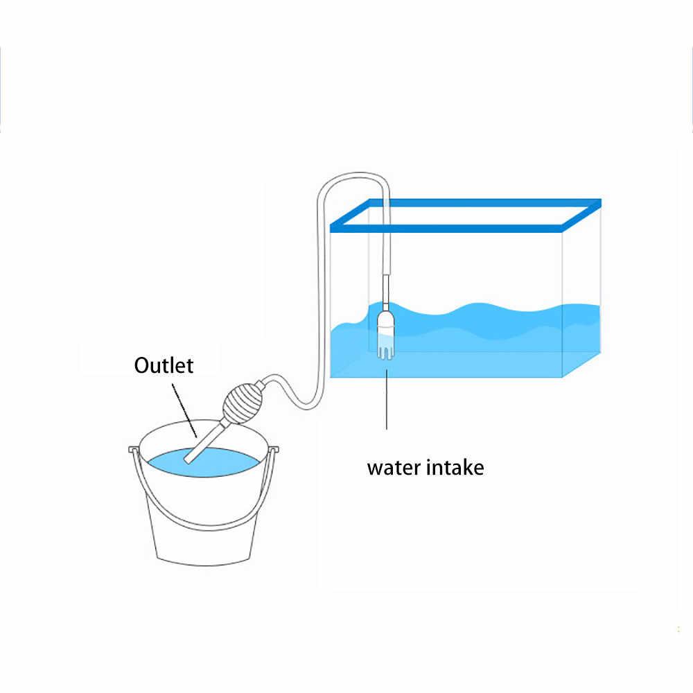 الحوض نظيفة سيفون فراغ المياه تغيير الحصى نظافة الأسماك خزان فلتر مضخة مضخة هواء الحوض البخاخ