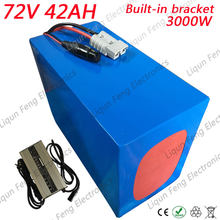 Free Shipping 3000W 72V 40AH Lithium Scooter Battery Built-in Bracket with 50A BMS + 84V 5A Charger 72V 40AH EBike Battery(China)