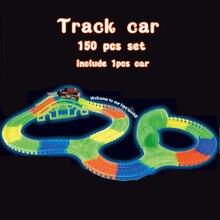 150pcs set flash Bend Flex Curve Slot DIY Track Car font b toy b font Set