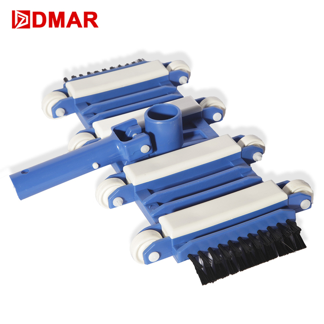 "DMAR Swimming Pool Flexible Vacuum Head with Brush Cleaner l40cm/8"" 30cm/12"" Pool Spa Equipment Sewage Suction Pool Accessories"