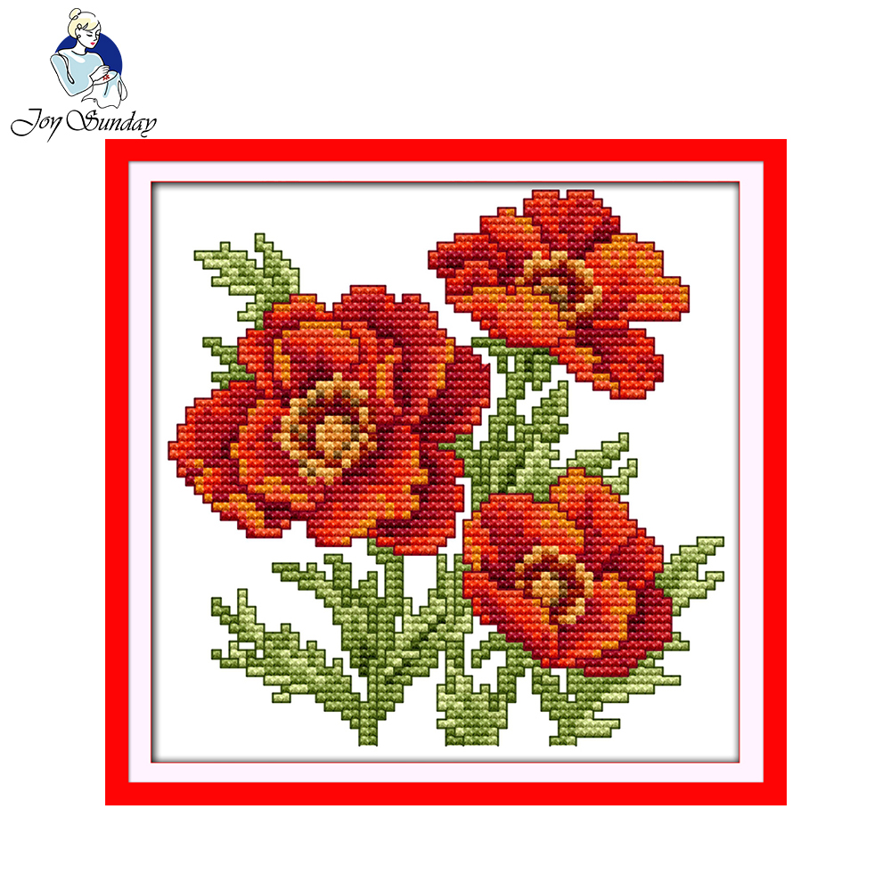 picture about Printable Cross Pattern called US $3.83 48% OFFJoy Sunday floral design The flower of pleasure printable cross sch designs cost-free present stamped canvas for rookies-inside of Package deal