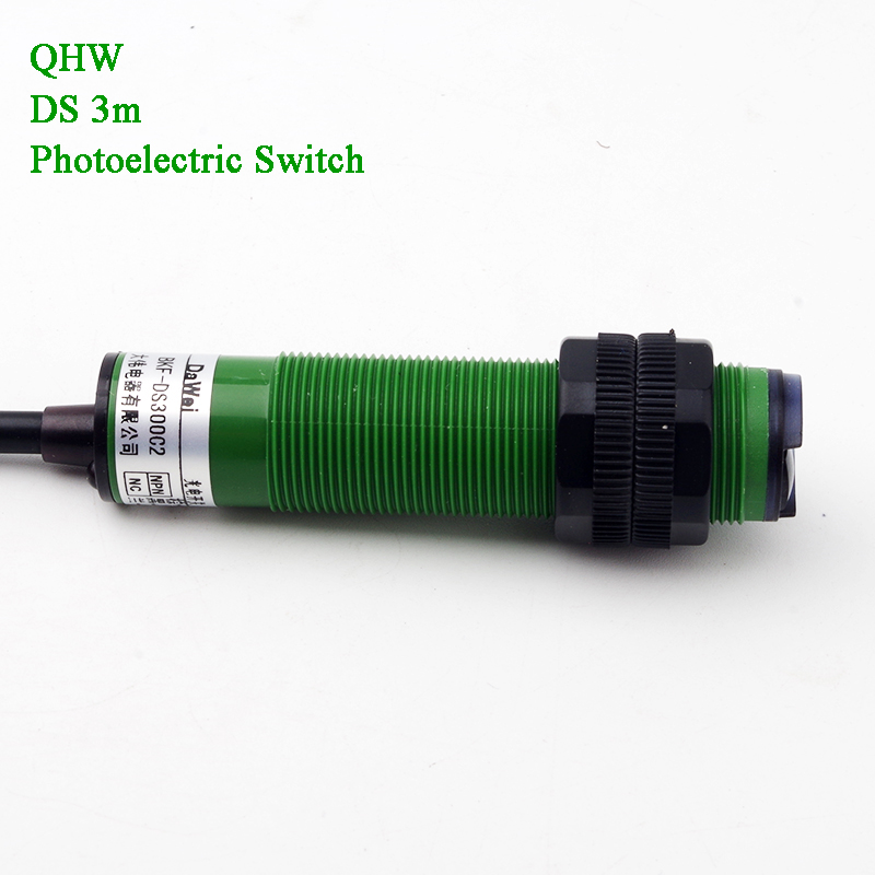 3m Detective Proximity Switch Diffuse Type NPN DC 6-36V Infrared Photoelectric Sensor Obstacle Detector Perimeter Light Control