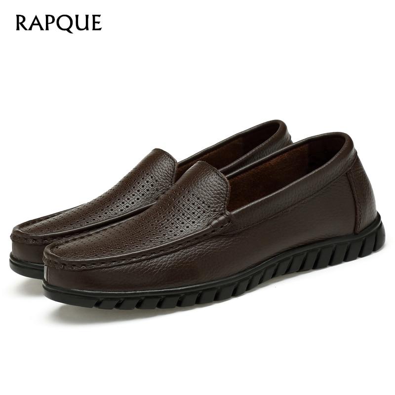 Mens Loafers Schuhe Oberschicht Leder Mature Männer Büro Breathable - Herrenschuhe