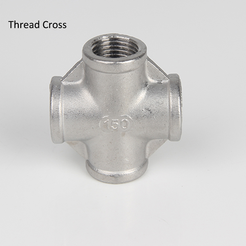 "1/2"" DN15 BSPT Threaded Stainless Steel SS304 Cross, Thread Cross, 4 way Pipe Fittings"