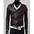 4XL Большой Размер Кожаная Куртка Джинсовая Куртка Бомбардировщика Мужчины Homme Блузон Светоотражающие Куртка Abrigo Манто Homme Hombre Военно Homme