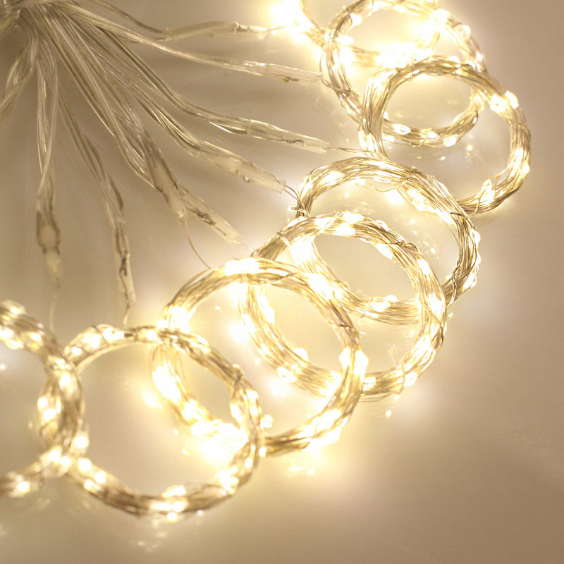 3x3M LED Curtain Light  Waterproof USB Copper Wire Curtain Fairy Light With Remote Control Outdoor Garland For Xmas Party