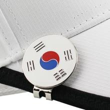 """Корейский флаг Гольф-маркер w Магнитная Крышка для гольфа клип отметка для мяча для гольфа сплав Профессиональный 1,1"""" Прямая поставка"""