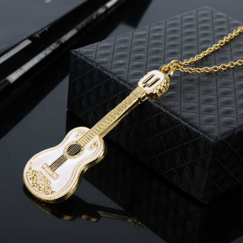 ad4cc28b5 ... Fashion Cool Jewelry Guitar Pendant Necklace Punk Women Man Charm  Necklace Music Fans Best Friends Gifts ...