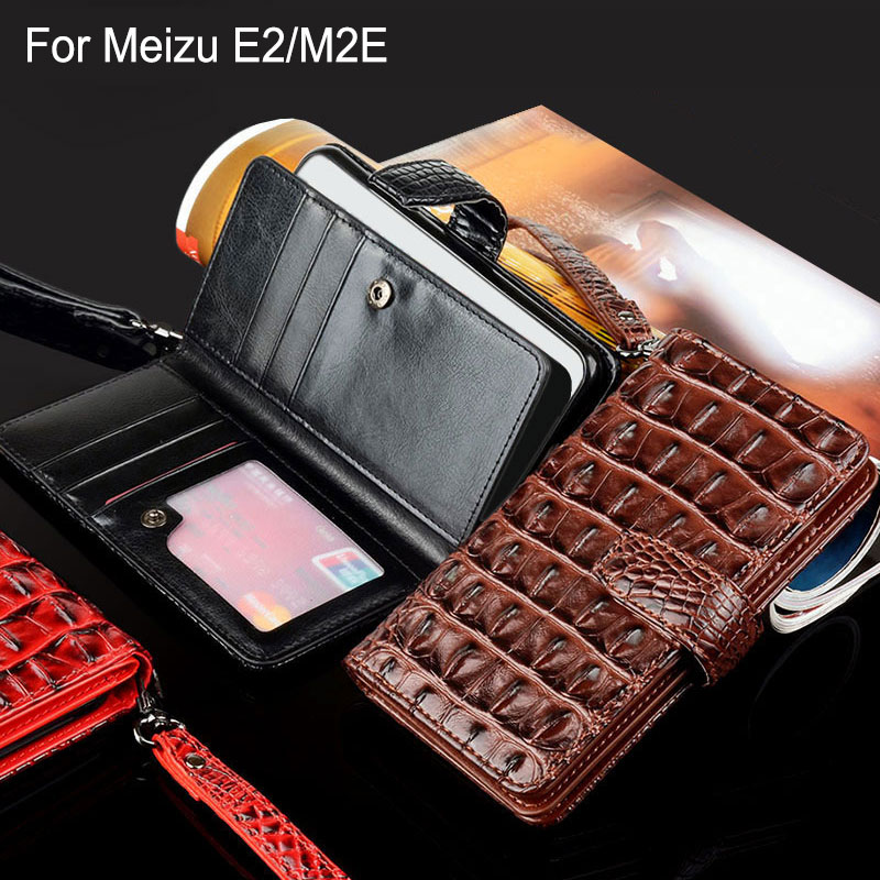 Для Meizu e2 случае Роскошные Крокодил Змея кожа Флип Бизнес Стиль бумажник телефон чехлы для Meizu meilan e2 m2e крышка принципиально Капа