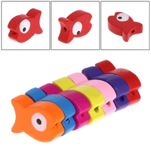 50 Pcs/Bag Parrot Toy DIY Wooden Colorful Fish Accessories Pet Bird Multipurpose YH-461070