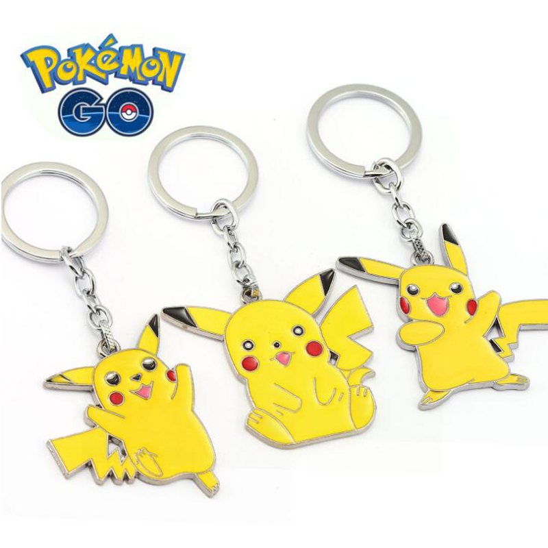 ORP Anime game theme products Pokemon Go Keychain logo Pikachu style hot selling new keychain pendant accessories wholesale