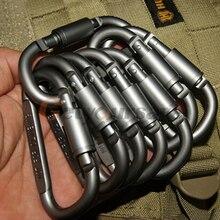 5 шт. оборудование для кемпинга на открытом воздухе алюминиевый карабин оборудование для охоты набор для выживания инструмент для блокировки