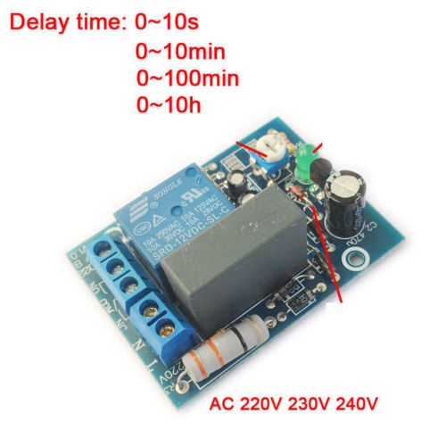 AC 220V <font><b>230V</b></font> 240V Adjustable Timer Delay Turn On/Off Switch Time Relay Module PLC for time delay control lighting /factory image