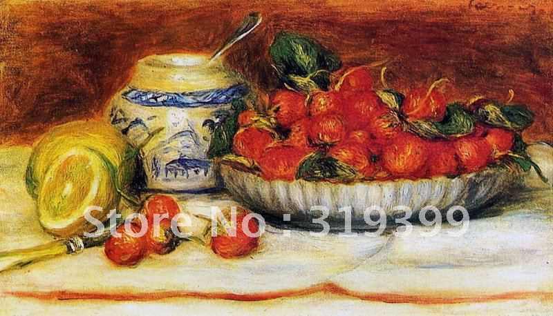 Free DHL Shipping,handmade,Oil Painting Reproduction on linen canvas,strawberries  by pierre auguste renoir,museum qualityFree DHL Shipping,handmade,Oil Painting Reproduction on linen canvas,strawberries  by pierre auguste renoir,museum quality