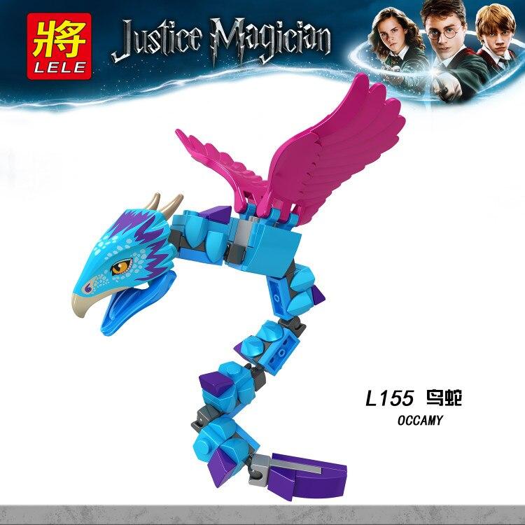 20 pcs/lot fantastiques bêtes Occamy magique Thestral Luna Dobby Harry Figure potiers construction Legoings briques enfants jouets L155