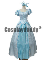 The Little Mermaid Adult Ariel Cosplay Costume Blue Dress for Women