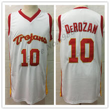 416e4f82bc8 #10 Demar DeRozan USC Trojans College White Red Retro Basketball Jersey  Mens Stitched Jerseys(