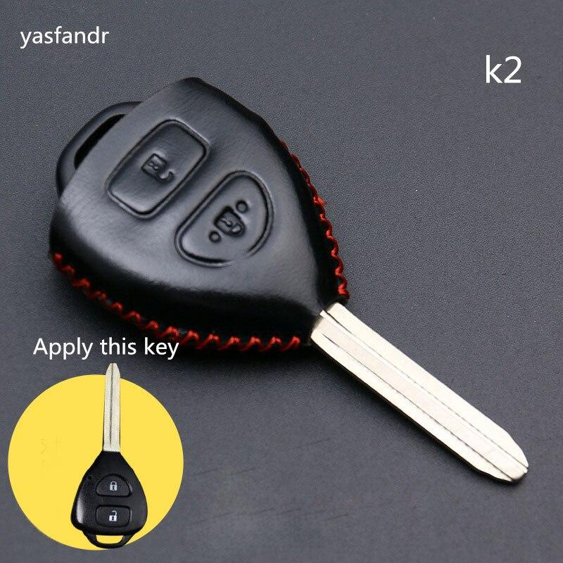 2 Buttons Accessories Remote Car Key Cover Case For Toyota Camry Highlander Corolla Hilux Vitz Vios Rav4 Aqua Land Cruis