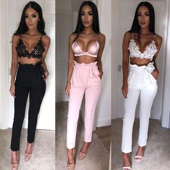 High Waist Pencil Pants Women Casual Elegant Pockets Pants Female Solid skinny Trousers Female Bottom OL Pants 4