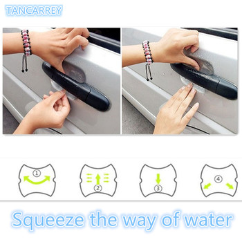 car-styling door handle sticker protective film for Hyundai Solaris i20 ix25 i30 ix35 i40 HB20 HB20S Tucson Sonata accessories image