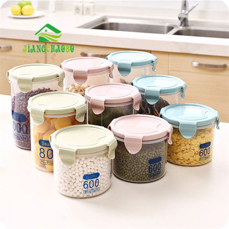 Transparent Plastic Sealed Cans Refrigerator Preservation Cans Kitchen Kitchen Grain Storage Box Food Storage Storage Tanks