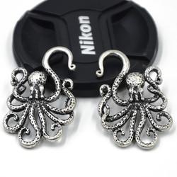 Antique Brass Textured octopus Ear Weights Hangers Gauges Spiral Ear Taper Stretcher Tunnel Plugs Expanders Earlet 2g/6mm