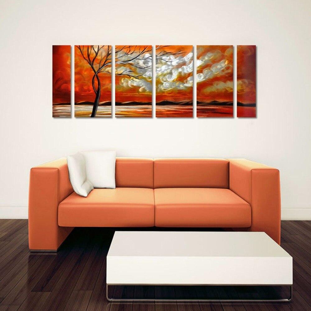 online get cheap modern contemporary artwork aliexpresscom  - tree blight life aluminum wall art original large abstract painting moderncontemporary decor sculpture decorative artwork