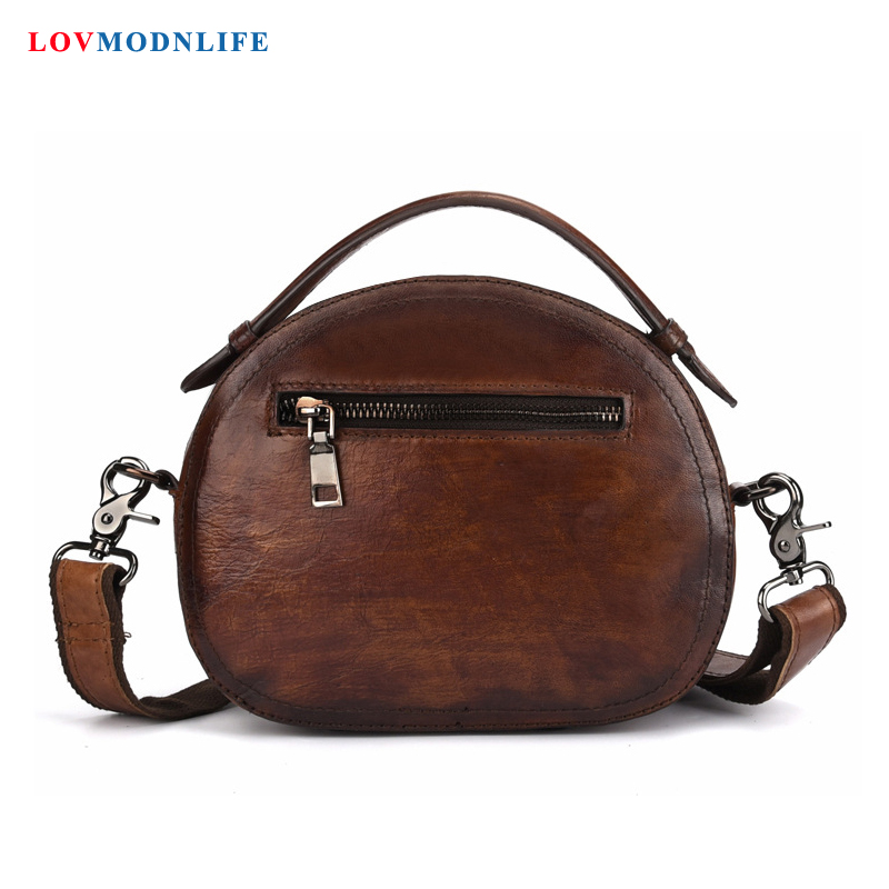 Luxury Women 39 s Handbags Lady Designer Small Round Female Shoulder Bag 2019 Summer Woman Crossbody Messenger Bags Genuine Leather in Shoulder Bags from Luggage amp Bags