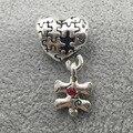 Puzzles coração Banhado A Prata Charme Com Amor Colar de Contas Europeus Fit Encantos Pandora Pulseiras & Bangles B00280