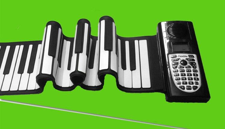 Enfants jouets musicaux pour enfants piano pratique lecteur 49 clavier Portable pliant doux enfants début débutant Instrument avec haut-parleur - 4