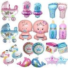 Купить с кэшбэком 1pcs mini angel baby girls balloon baby shower baby Stroller foil ballon baby toys for newborn party decoration air balloons