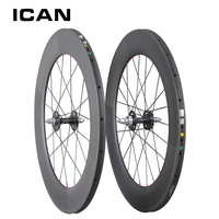 Carbon Track Bike Wheel 88mm Clincher Tubular Single Speed Wheels 20 24 Holes Fixed Gear Wheelset