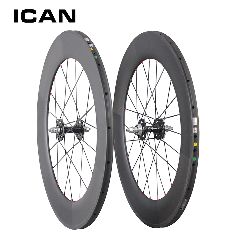 carbon track bike wheel 88mm clincher tubular Single Speed Wheels 20/24 Holes fixed gear wheelset for carbon track bike track carbon wheelset 88mm clincher bike wheels track single speed cycling wheels flip flop fixed gear novatec hubs 700c