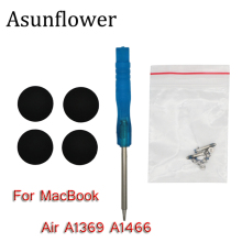 Asunflower New Rubber Feet Bottom Case Cover For Macbook Air 13 Inch A1369 A1466 2010-2018 Years With Screws Screwdriver Laptop