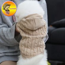 Three color S-XL warm winter Dog sweater sweaters Puppy Clothes Vestidos vest cat Pets hoodie hoodies dogs coats gentleman style