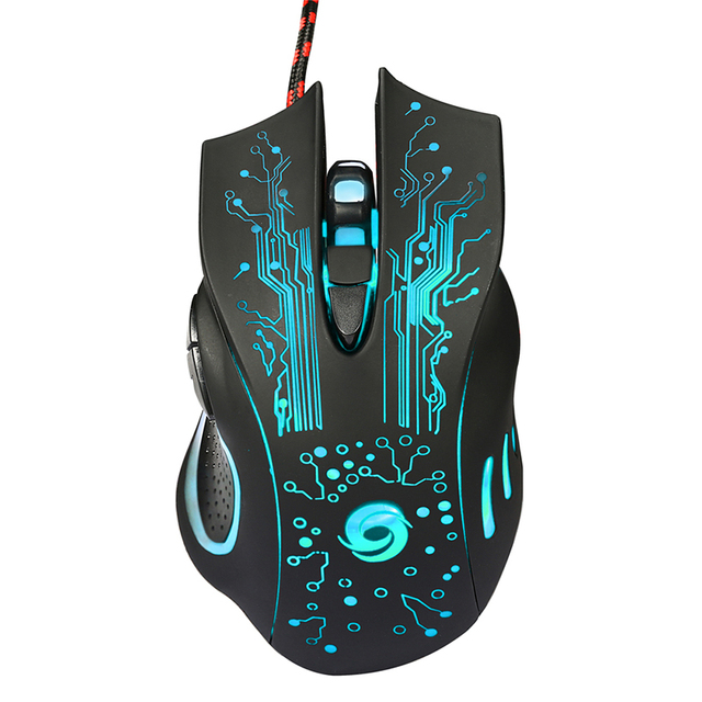 3200DPI LED Optical 6D USB Wired Gaming Mouse Game Pro Gamer Mice For PC Laptop notebook Gamer Computer Mice mause 3